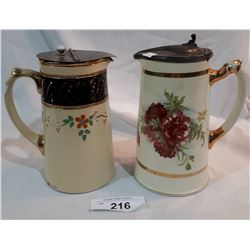 TWO VICTORIAN WATER PITCHERS