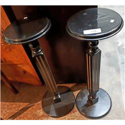 PAIR BLACK PLANT STANDS