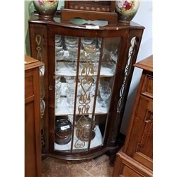 BOW FRONT MAHOGANY DISPLAY CABINET