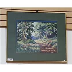 FRAMED PRINT OF COUNTRY ROAD