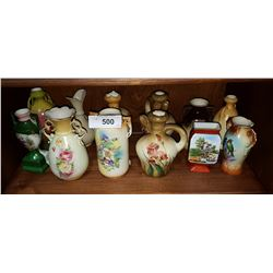 LOT OF 12 VINTAGE/ANTIQUE PORCELAIN VASES