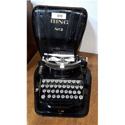 EARLY 1900'S BING NO.2 PORTABLE TYPEWRITER