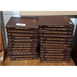 26 PC SET LOUIS L'AMOUR LEATHERBOUND BOOKS