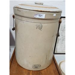 10 GALLON MEDALTA CROCK W/LID