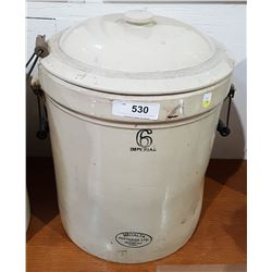 MEDALTA 6 IMPERIAL GALLON CROCK W/LID