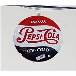 EMBOSSED PEPSI COLA SIGN