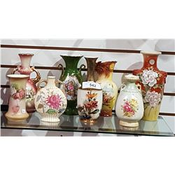 LOT OF 8 VINTAGE/VICTORIAN PORCELAIN VASES
