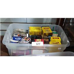 BIN OF COLLECTIBLE TINS