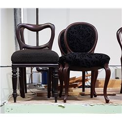 LOT OF 4 RESTORED & REUPHOLSTERED BALLOON BACK CHAIRS