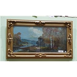 GILT  FRAMED PRINT OF SCENEREY