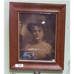 ANTIQUE WOOD FRAMED PHOTOGRAPH