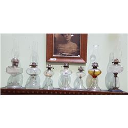 COLLECTION OF 7 OIL LAMPS