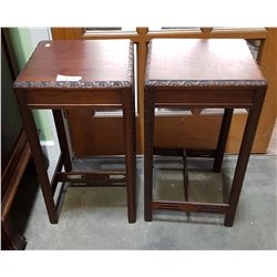 PAIR MAHOGANY OCCASIONAL TABLES
