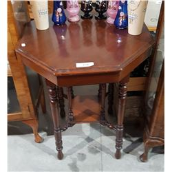 MAHOGANY OCTAGON OCCASIONAL TABLE