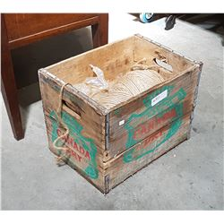 VINTAGE CANADA DRY BOX W/MISC CONTENTS