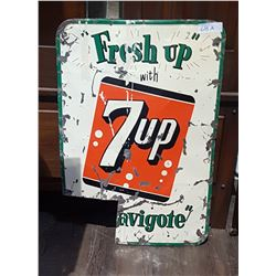 1960'S 7UP TIN SIGN