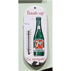 1950'S 7UP PORCELAIN THERMOMETER
