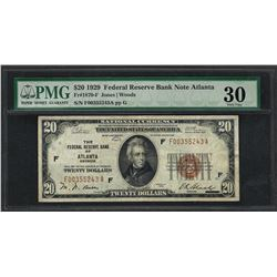 1929 $20 Federal Bank of Atlanta Fr.1870-F Note PMG Very Fine 30