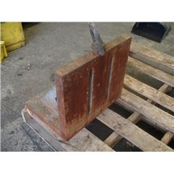 "Steel Right Angle Plate, Overall: 16"" x 12"" x 14"""