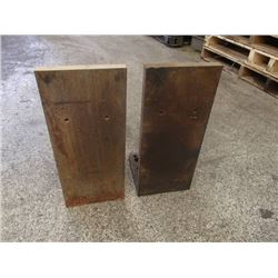 "Steel Right Angle Plates, Overall: 8"" x 8"" x 19"""