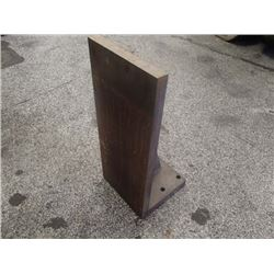 "Steel Right Angle Plate, Overall: 8"" x 8"" x 19"""