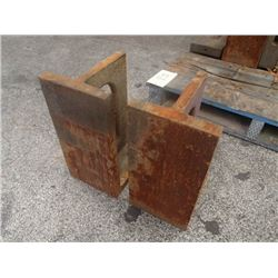 "Steel Right Angle Plates, Overall: 8"" x 9"" x 16"""
