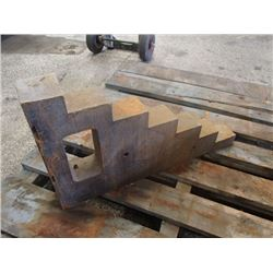 "Steel Right Angle, Multi-Level Plate, Overall: 3"" x 13.5"" x 24"""