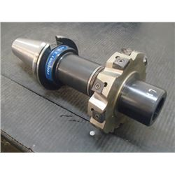 "CAT50 1/2"" Arbor Holder with 5"" x 1"" Indexable Slot Milling Cutter, See Desc for Info"