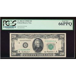 1950B $20 Cleveland Federal Reserve Note PCGS 66PPQ