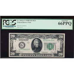 1928B $20 Chicago Federal Reserve Note PCGS 66PPQ