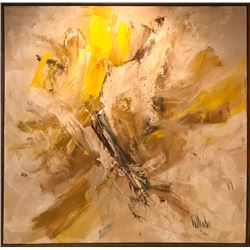 Gino Hollander, Yellow Abstract, Oil Painting