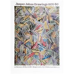 Jasper Johns, Drawings 1970-1980 at Margo Leavin Gallery, Lithographic Poster