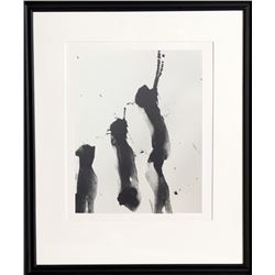 Robert Motherwell, Octavio Paz, Three Poems 4, Lithograph with Chine Colle