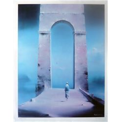 Robert Watson, Figure and Archway, Lithograph