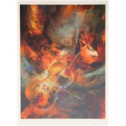 Leonardo Nierman, Mahler from the Sound of Color Portfolio, Lithograph