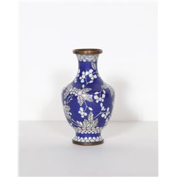 Chinese Blue and White Floral, Cloisonne Porcelain Vase