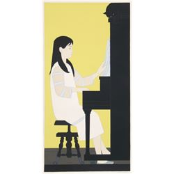 Will Barnet, Girl at Piano, Serigraph