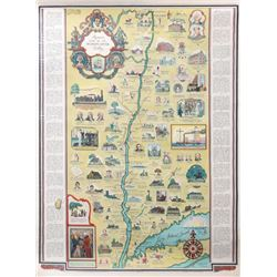 George Annand, Romance Map of the Hudson River Valley, Poster