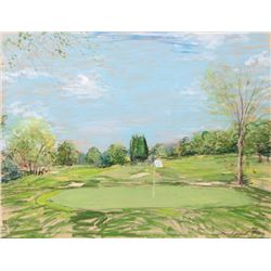 Kamil Kubik, Putting Green on the Golf Course, Pastel Drawing