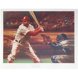 Robert Peak, Baseball Lithograph signed by Stan Musial