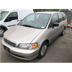 1996 HONDA ODYSSEY, BROWN, GAS, AUTOMATIC, VIN#JHMRA1843TC801900, 206,899KMS, RD,PW,CC,PL,TW,CR, 1