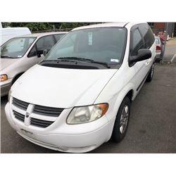 2006 DODGE CARAVAN, MINIVAN, WHITE, GAS, AUTOMATIC, VIN#1D4GP25RX6B520073, 131558KMS,