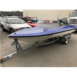 HIGHLINER BOAT TRAILER WITH BOAT AND MERCURY 150 MOTOR