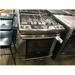 ELECTROLUX  STAINLESS  4 BURNER SLIDE IN GAS STOVE