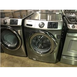 GREY AND STAINLESS FINISH SAMSUNG STEAM VRT FRONT LOADING WASHER MACHINE