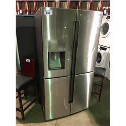 STAINLESS AND GREY SAMSUNG 4 DR FRENCH DOOR FRIDGE