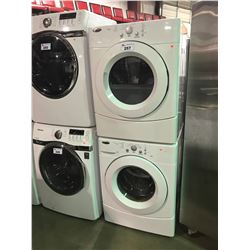 WHITE AMANA TANDEM 7300 STACKING CLOTHES WASHER AND DRYER SET