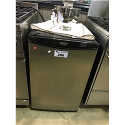 BLACK AND STAINLESS DANBY BAR FRIDGE