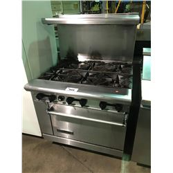 AMERICAN RANGE COMMERCIAL GRADE 6 BURNER STOVE WITH OVEN