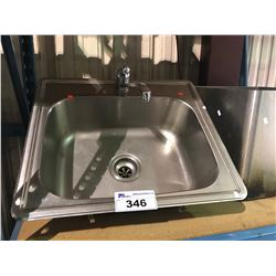 STAINLESS SINK WITH TAP